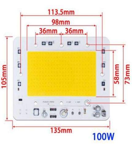 CHIP LED TIM-5054-100W